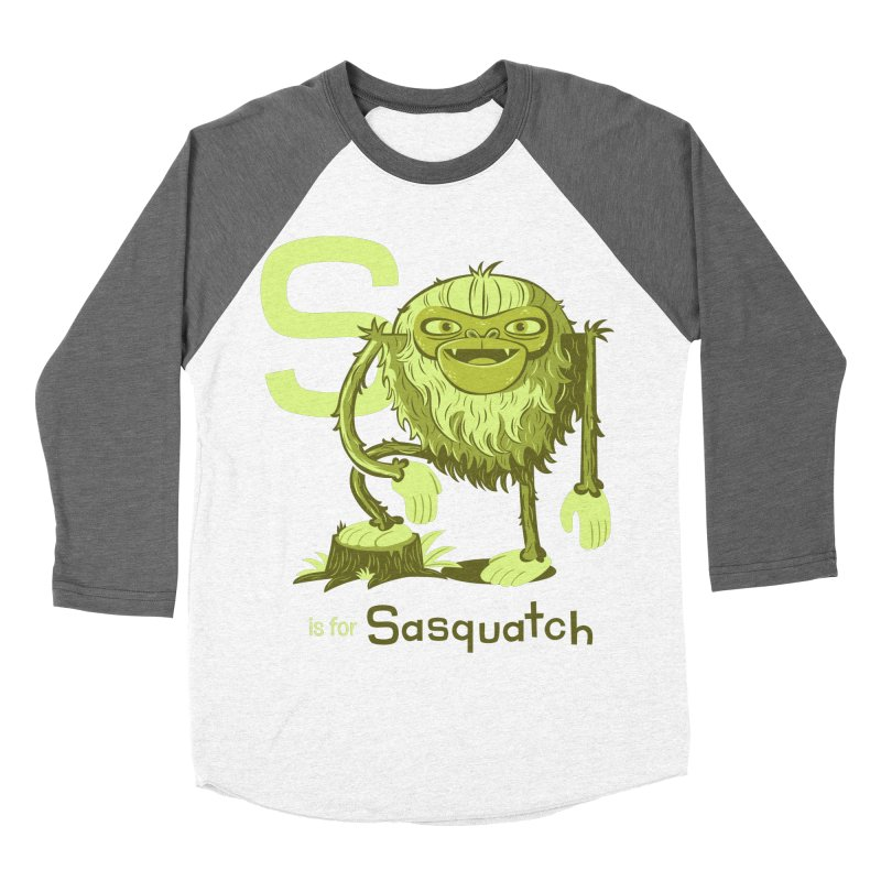 S is for Sasquatch Women's Baseball Triblend T-Shirt by Hazy Dell Press