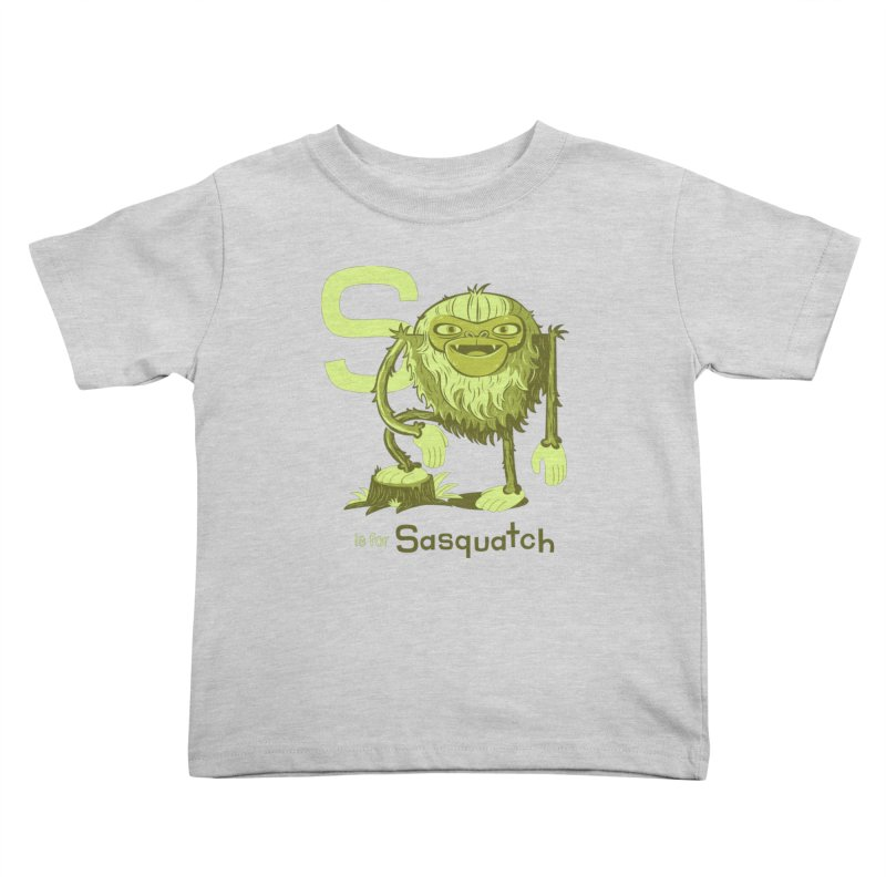 S is for Sasquatch Kids Toddler T-Shirt by Hazy Dell Press