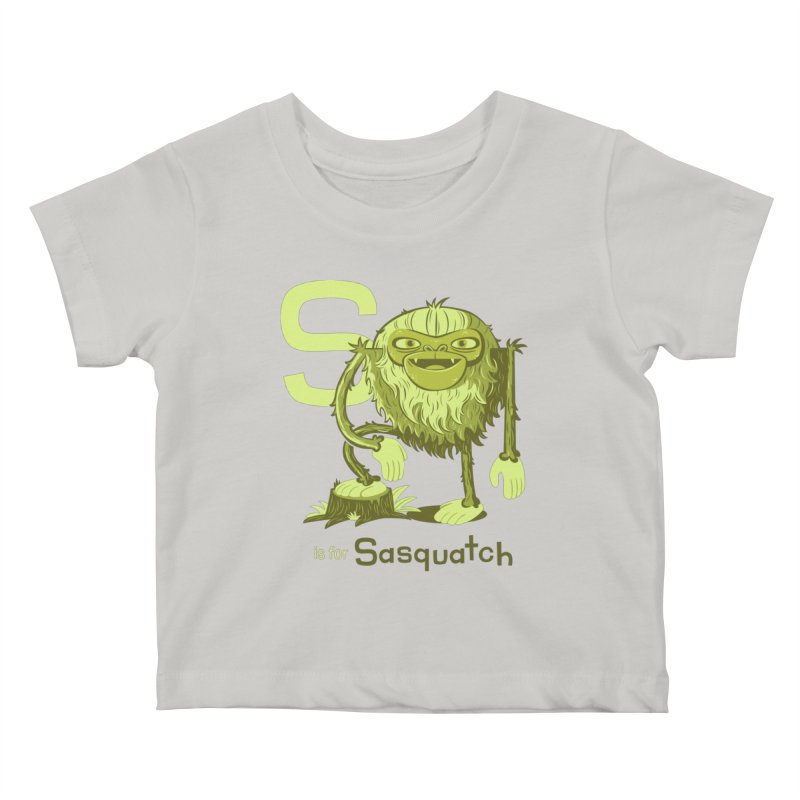 S is for Sasquatch Kids Baby T-Shirt by Hazy Dell Press