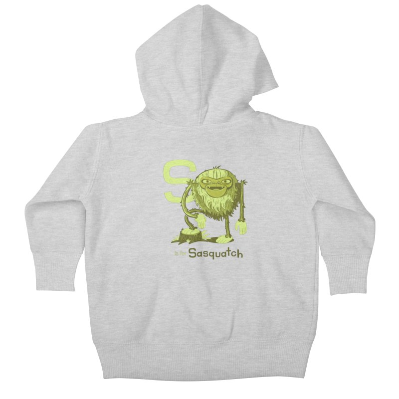 S is for Sasquatch Kids Baby Zip-Up Hoody by Hazy Dell Press