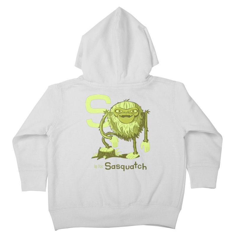 S is for Sasquatch Kids Toddler Zip-Up Hoody by Hazy Dell Press