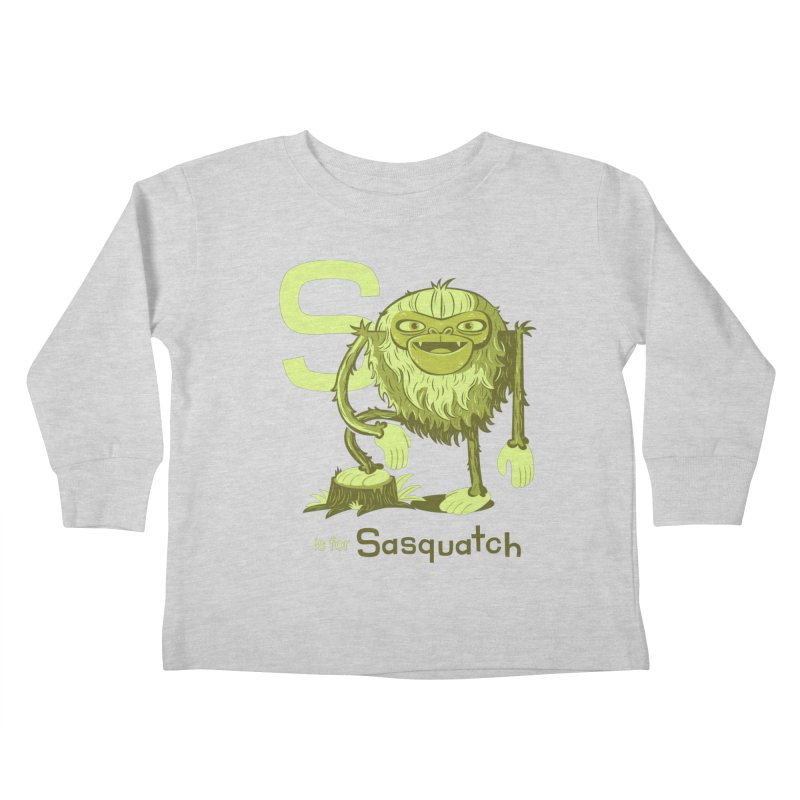 S is for Sasquatch Kids Toddler Longsleeve T-Shirt by Hazy Dell Press