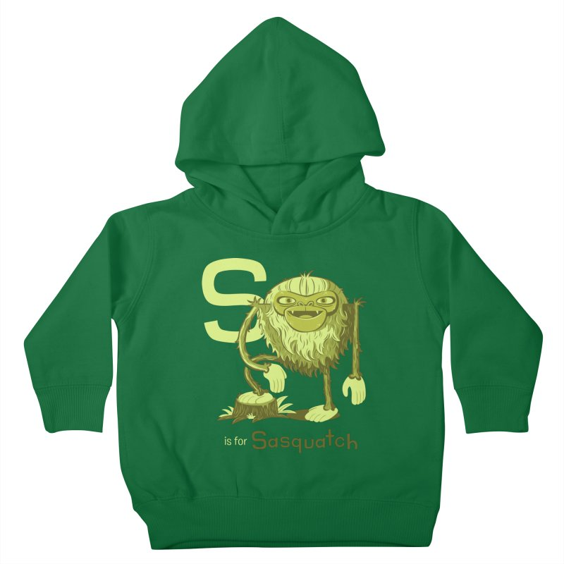 S is for Sasquatch Kids Toddler Pullover Hoody by Hazy Dell Press