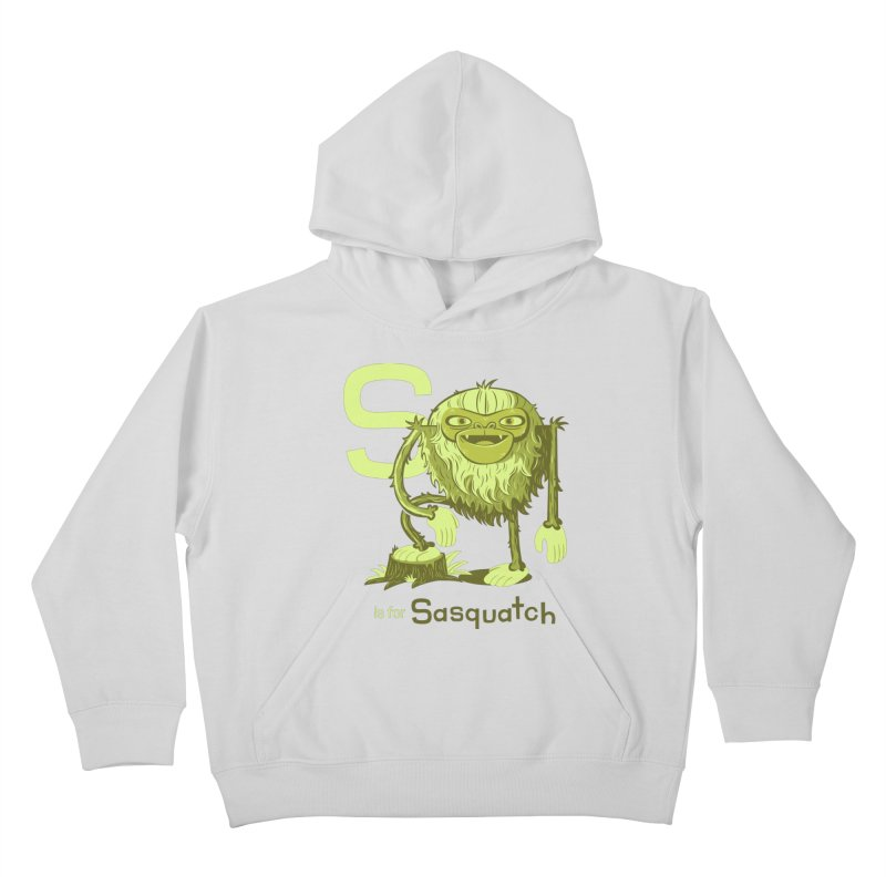 S is for Sasquatch Kids Pullover Hoody by Hazy Dell Press