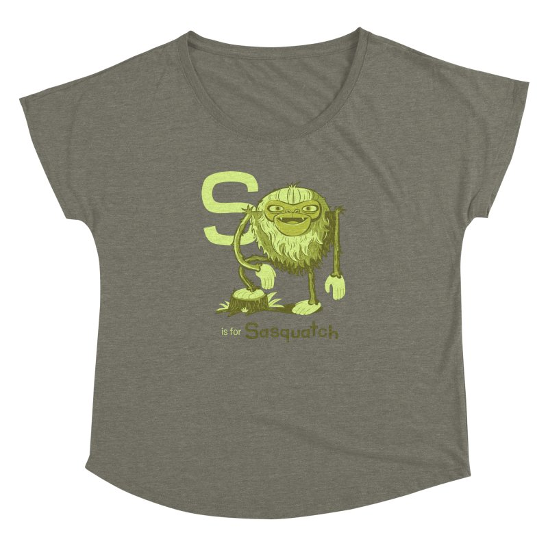 S is for Sasquatch Women's Dolman by Hazy Dell Press