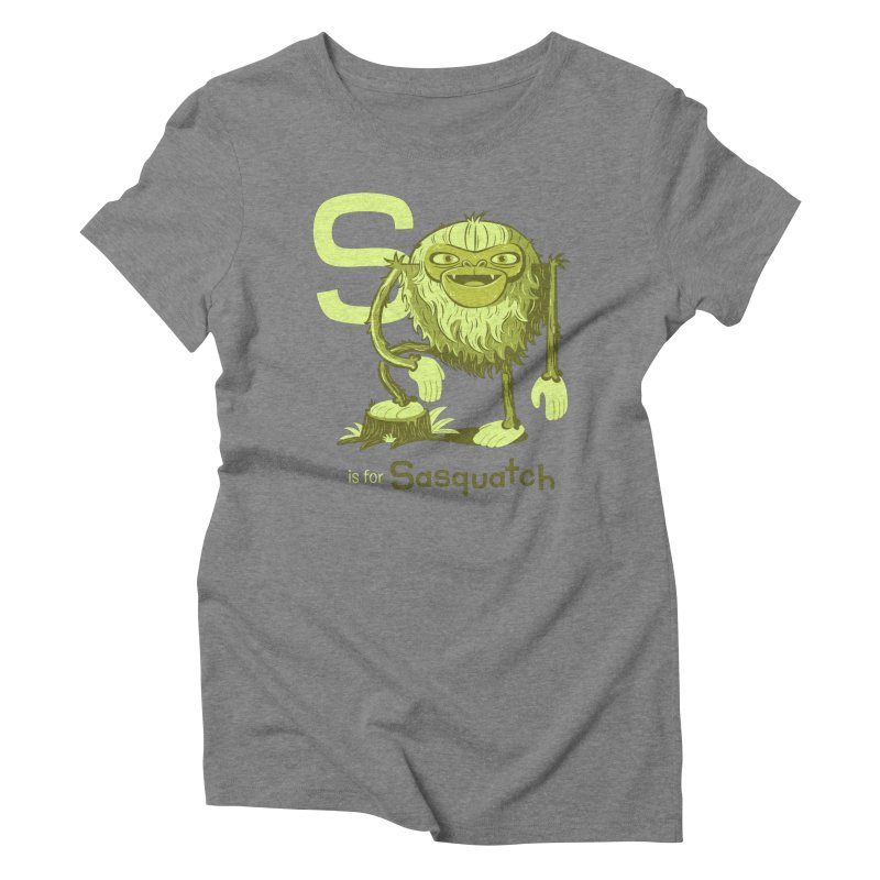 S is for Sasquatch Women's Triblend T-Shirt by Hazy Dell Press