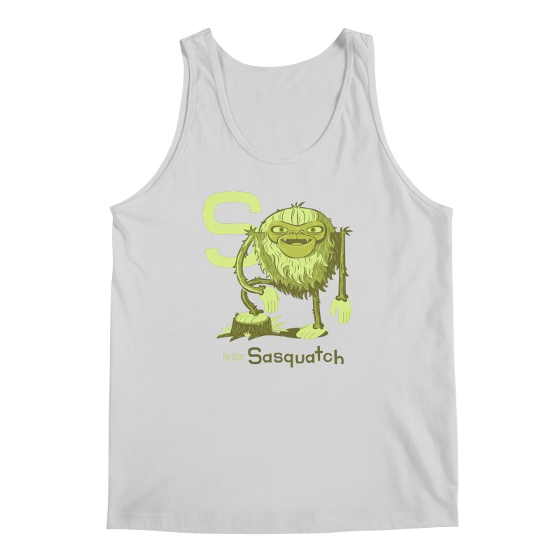 S is for Sasquatch Men's Regular Tank by Hazy Dell Press