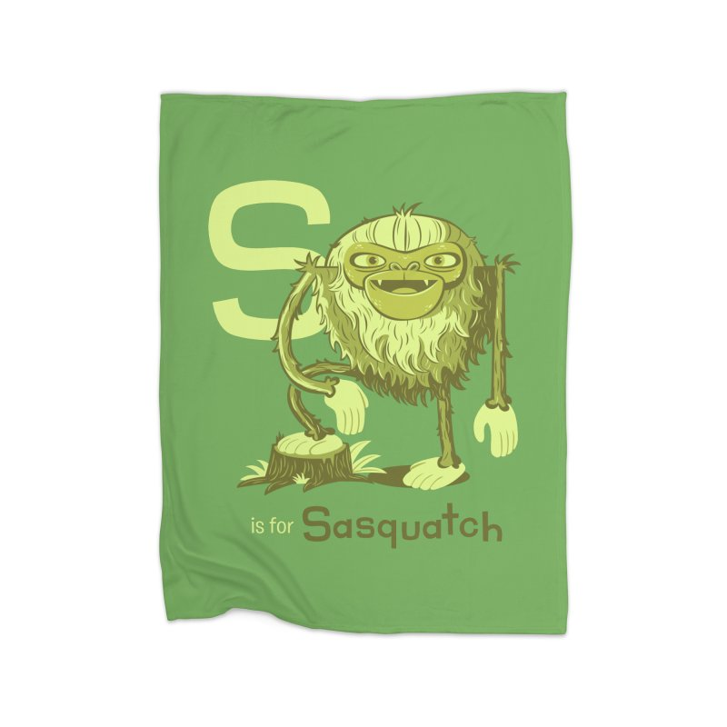 S is for Sasquatch Home Blanket by Hazy Dell Press