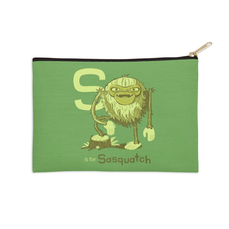 S is for Sasquatch Accessories Zip Pouch by Hazy Dell Press