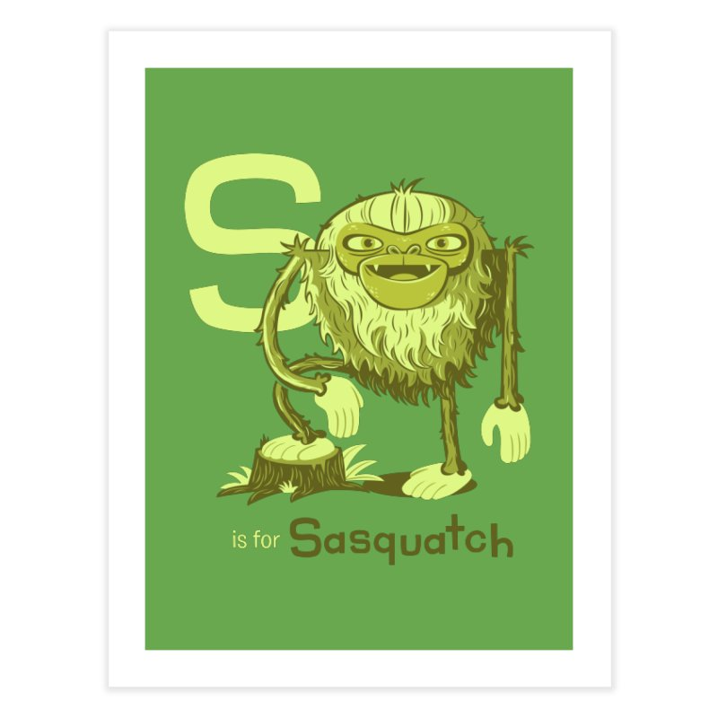 S is for Sasquatch Home Fine Art Print by Hazy Dell Press