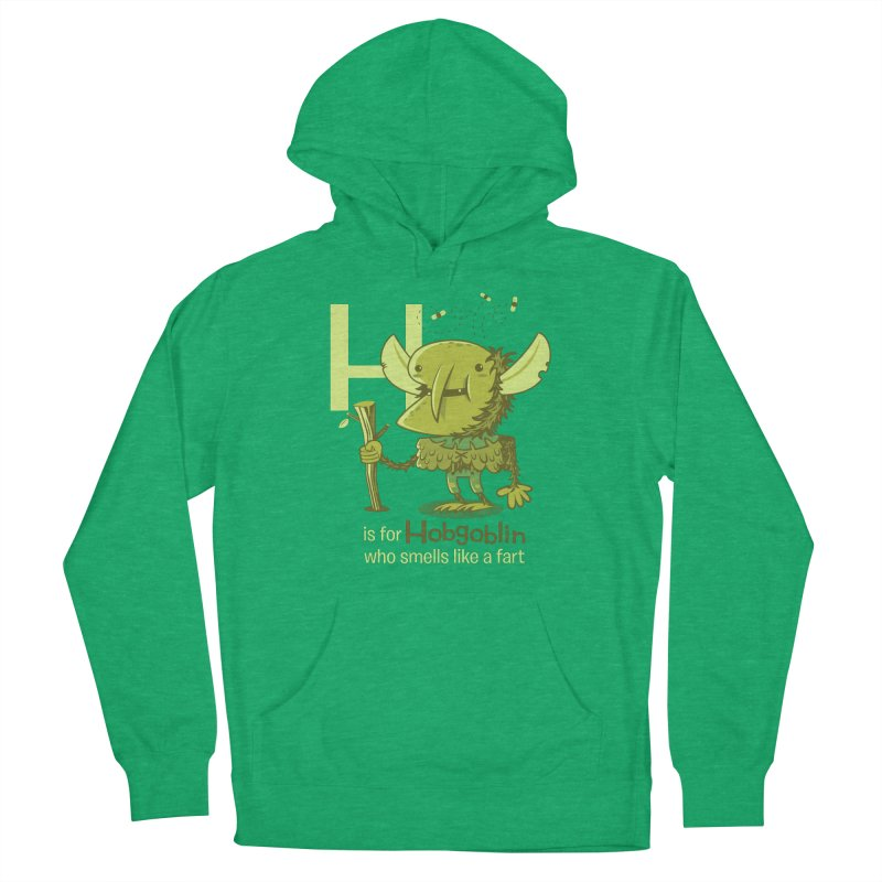 H is for Hobgoblin Men's French Terry Pullover Hoody by Hazy Dell Press