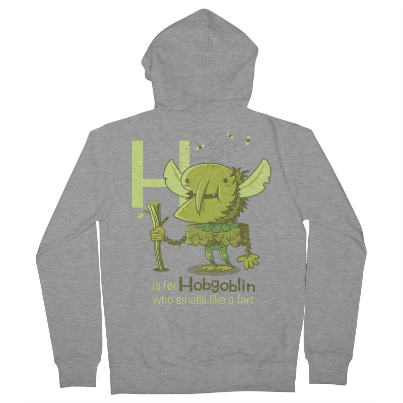 H is for Hobgoblin Women's French Terry Zip-Up Hoody by Hazy Dell Press