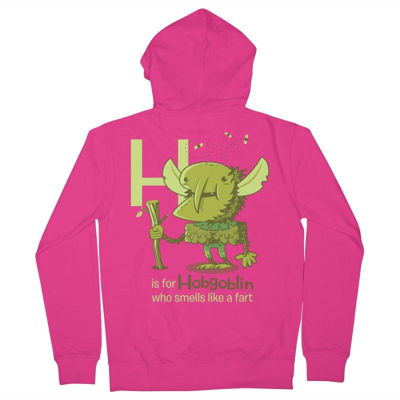 H is for Hobgoblin Men's Zip-Up Hoody by Hazy Dell Press