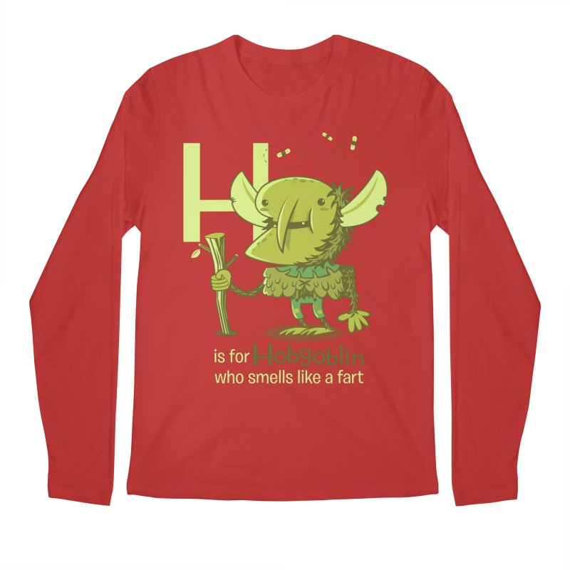 H is for Hobgoblin Men's Longsleeve T-Shirt by Hazy Dell Press