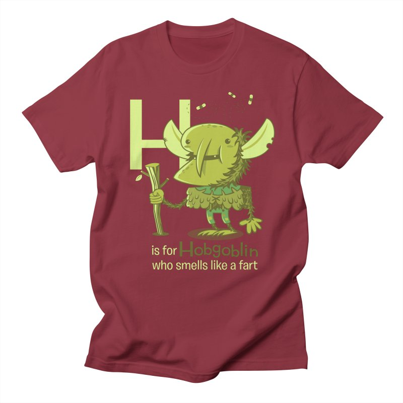 H is for Hobgoblin Men's Regular T-Shirt by Hazy Dell Press