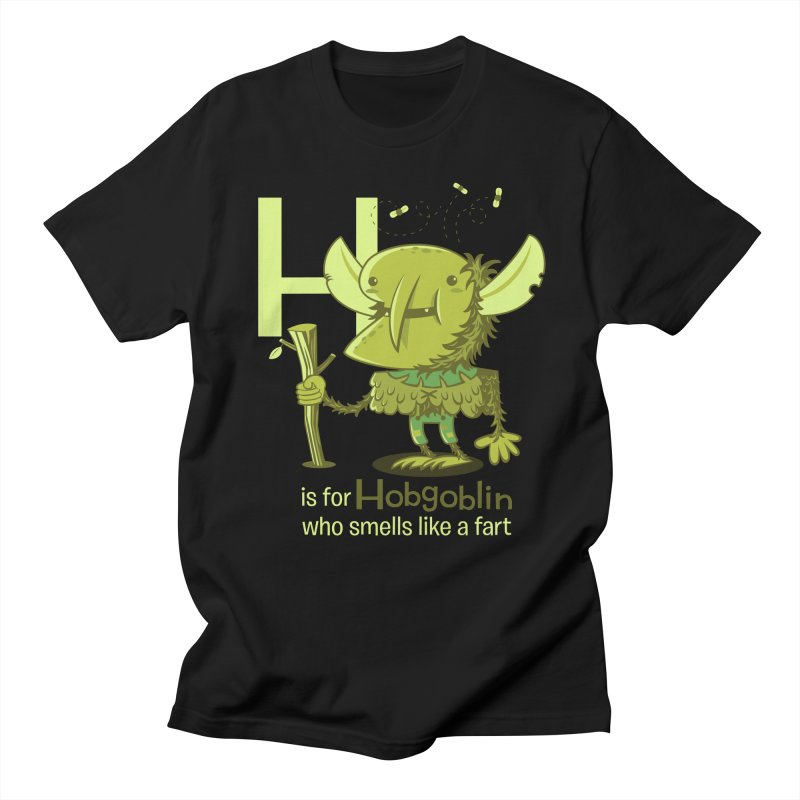H is for Hobgoblin Men's T-shirt by Hazy Dell Press