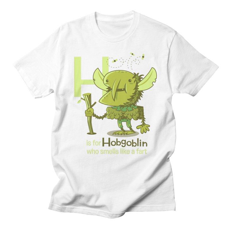 H is for Hobgoblin Men's Regular T-Shirt by Hazy Dell Press