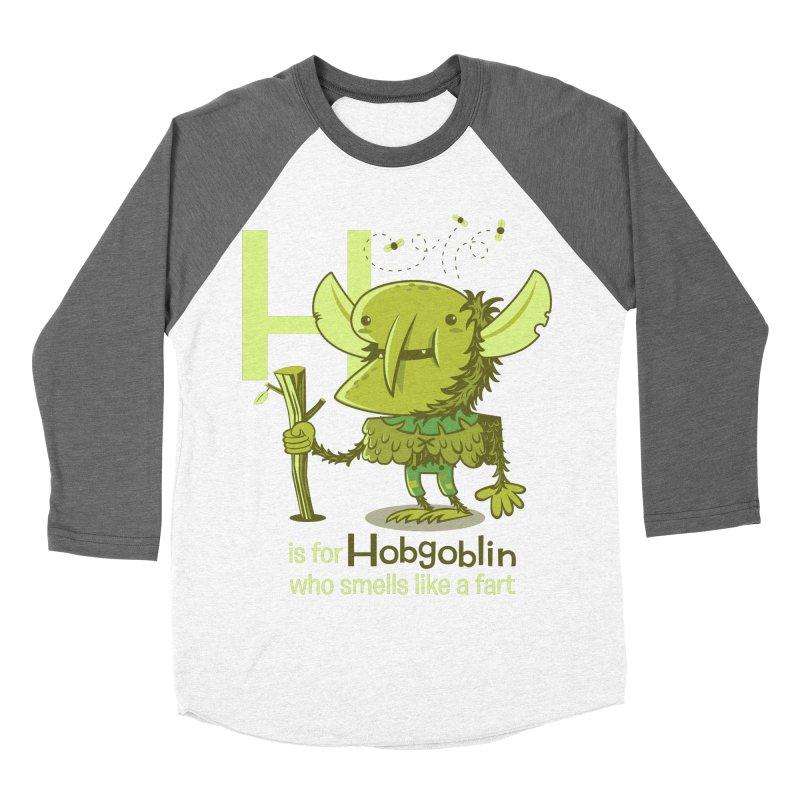 H is for Hobgoblin Women's Baseball Triblend T-Shirt by Hazy Dell Press