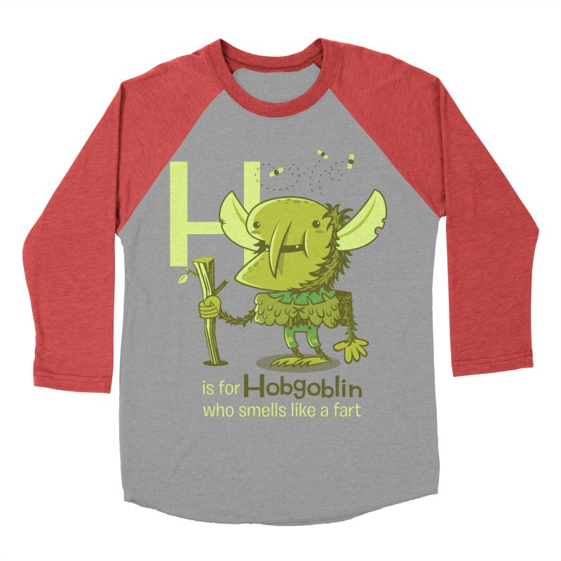 H is for Hobgoblin Women's Baseball Triblend Longsleeve T-Shirt by Hazy Dell Press