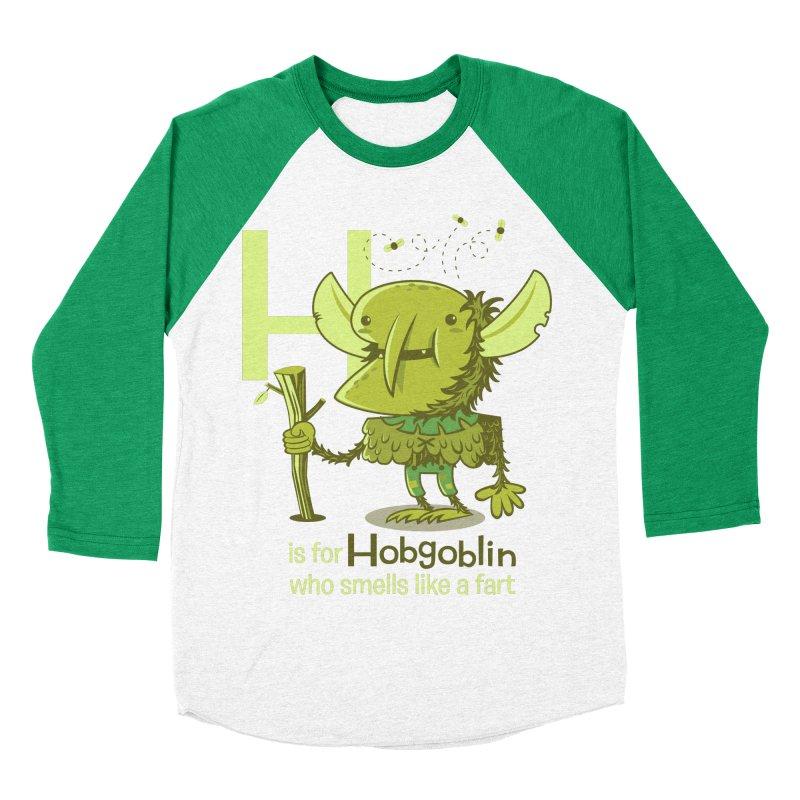 H is for Hobgoblin Men's Baseball Triblend Longsleeve T-Shirt by Hazy Dell Press