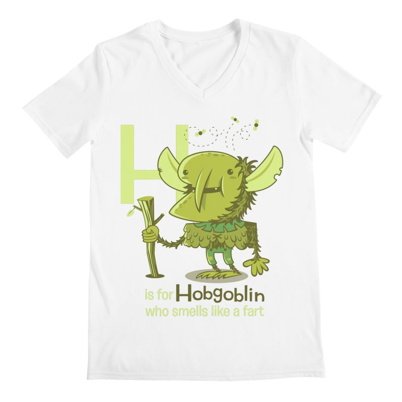 H is for Hobgoblin Men's V-Neck by Hazy Dell Press