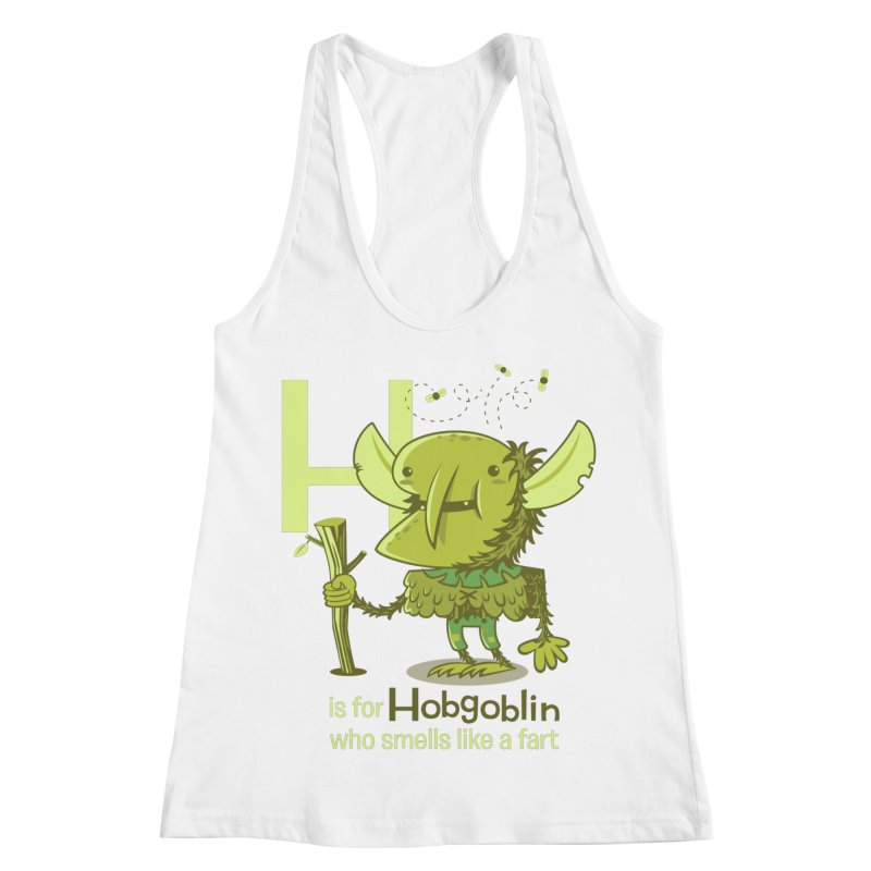 H is for Hobgoblin Women's Racerback Tank by Hazy Dell Press