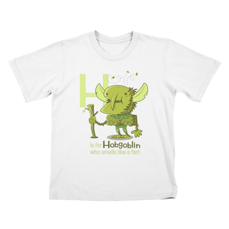 H is for Hobgoblin Kids T-Shirt by Hazy Dell Press