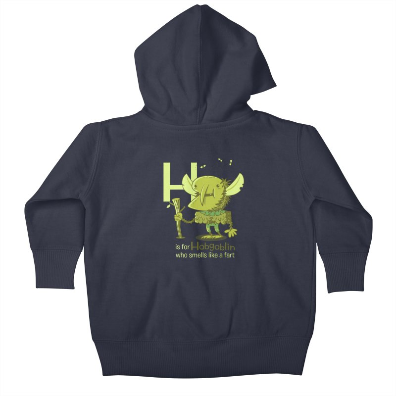 H is for Hobgoblin Kids Baby Zip-Up Hoody by Hazy Dell Press