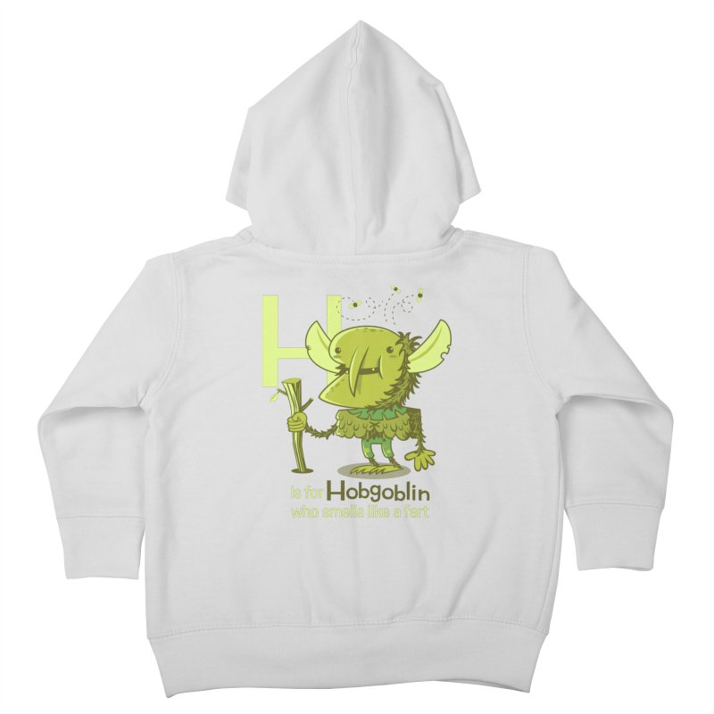 H is for Hobgoblin Kids Toddler Zip-Up Hoody by Hazy Dell Press