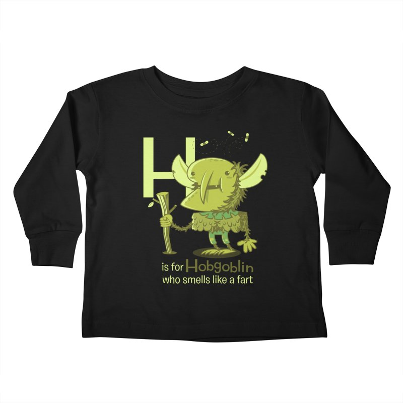 H is for Hobgoblin Kids Toddler Longsleeve T-Shirt by Hazy Dell Press