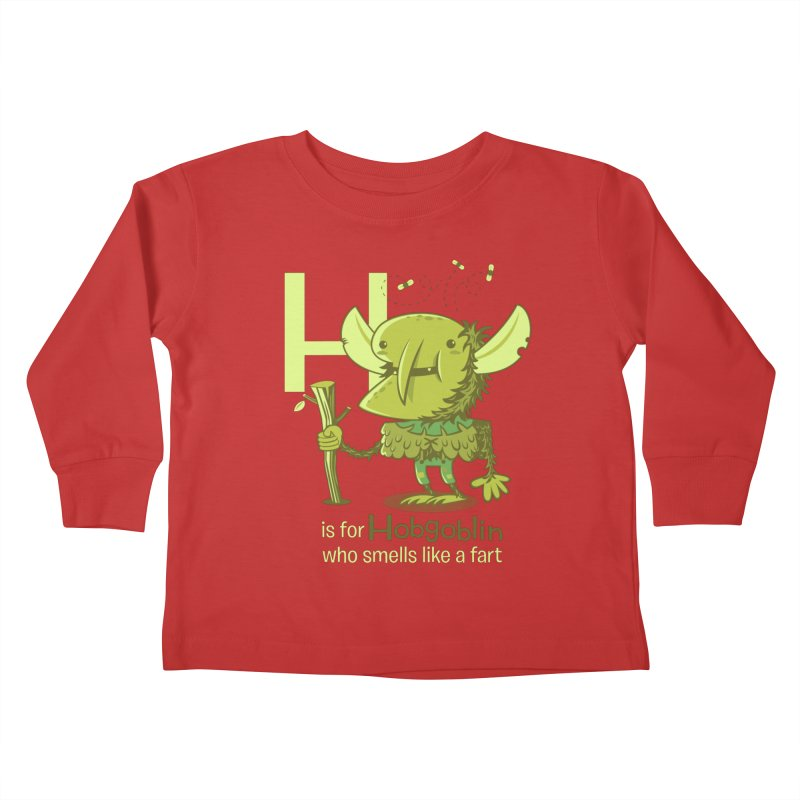 H is for Hobgoblin Kids Toddler Longsleeve T-Shirt by Hazy Dell Press