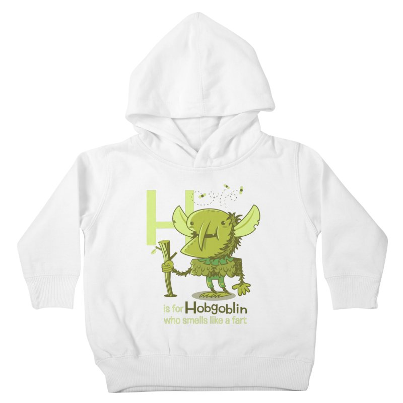 H is for Hobgoblin Kids Toddler Pullover Hoody by Hazy Dell Press