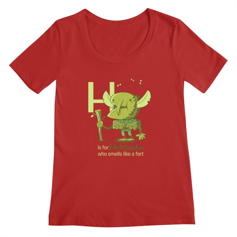 H is for Hobgoblin Women's Scoopneck by Hazy Dell Press