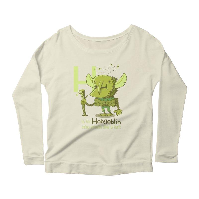 H is for Hobgoblin Women's Longsleeve Scoopneck  by Hazy Dell Press