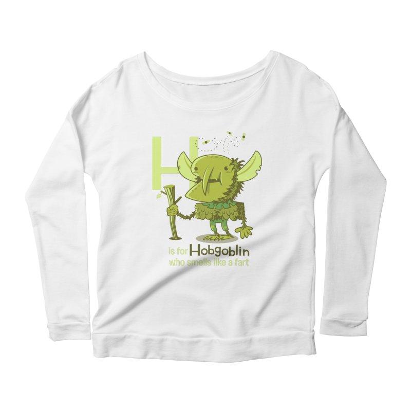 H is for Hobgoblin Women's Scoop Neck Longsleeve T-Shirt by Hazy Dell Press