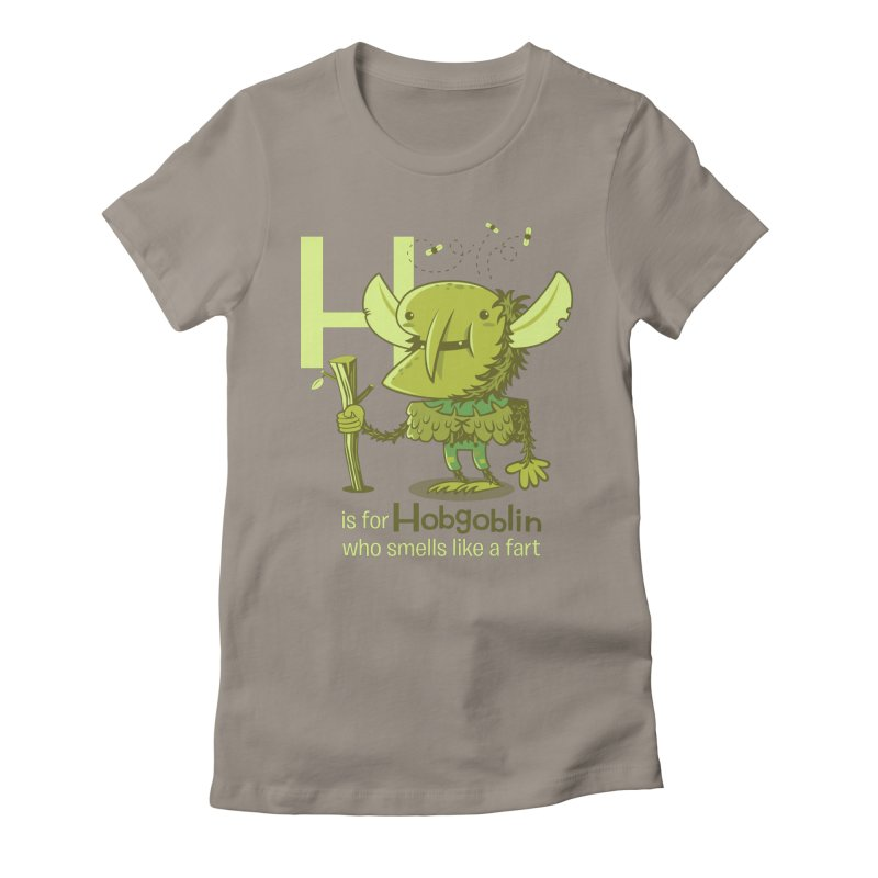 H is for Hobgoblin Women's Fitted T-Shirt by Hazy Dell Press