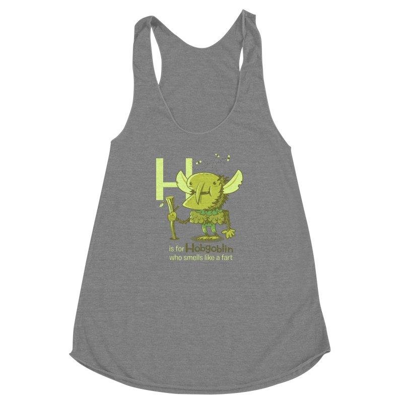 H is for Hobgoblin Women's Racerback Triblend Tank by Hazy Dell Press