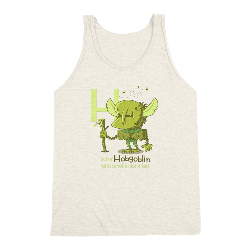 H is for Hobgoblin Men's Triblend Tank by Hazy Dell Press
