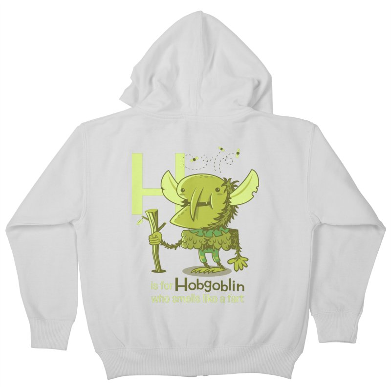 H is for Hobgoblin Kids Zip-Up Hoody by Hazy Dell Press