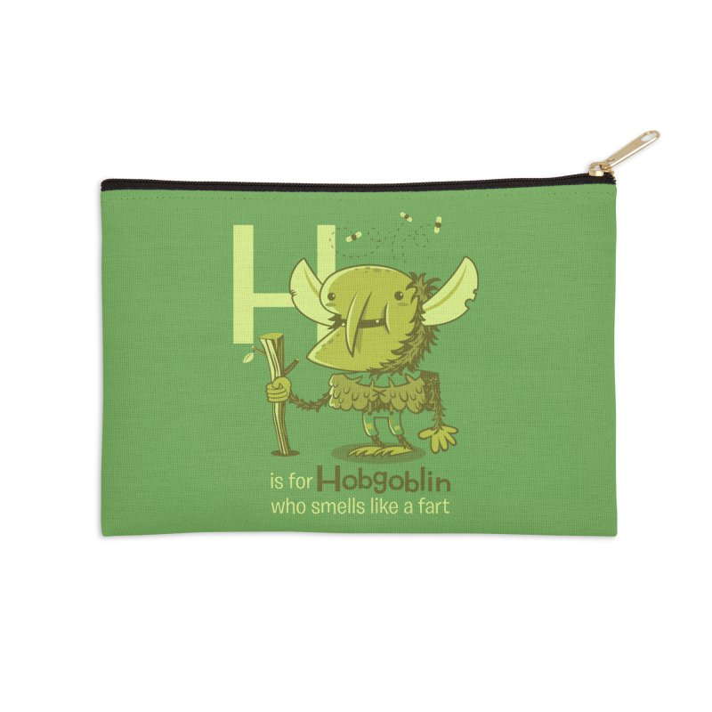 H is for Hobgoblin Accessories Zip Pouch by Hazy Dell Press