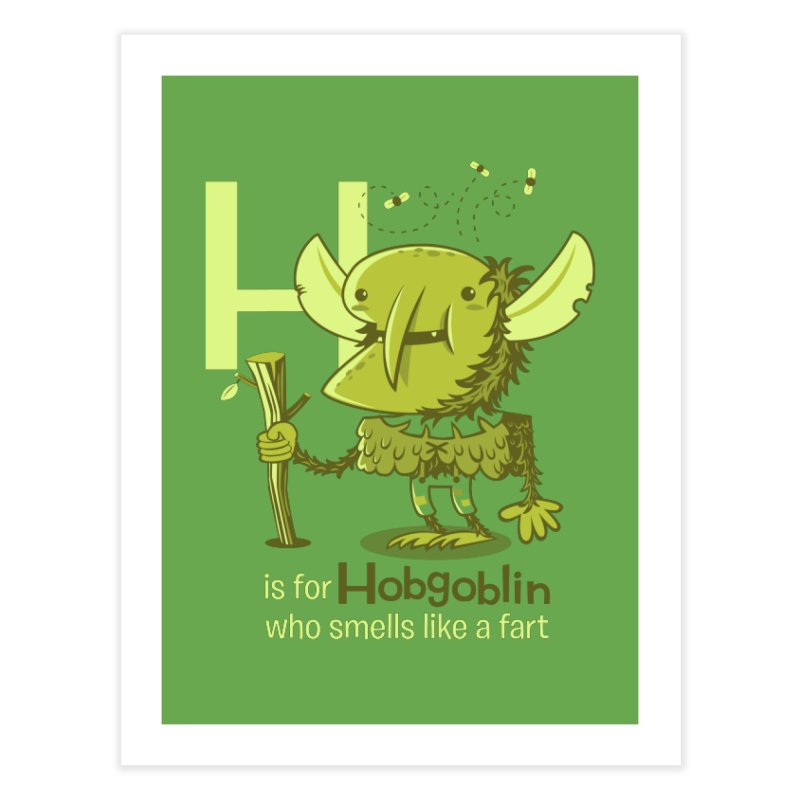 H is for Hobgoblin Home Fine Art Print by Hazy Dell Press