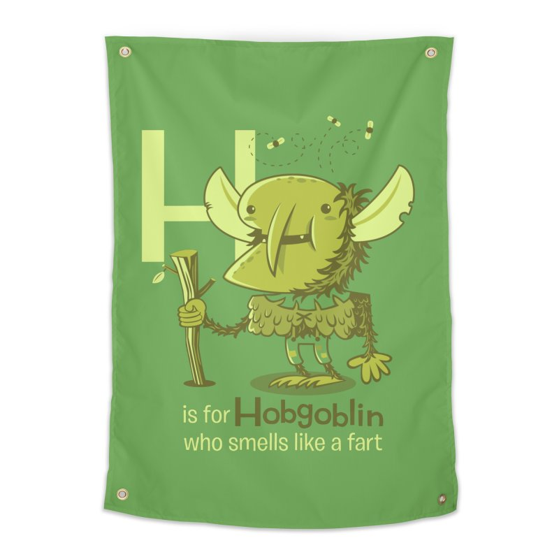 H is for Hobgoblin Home Tapestry by Hazy Dell Press