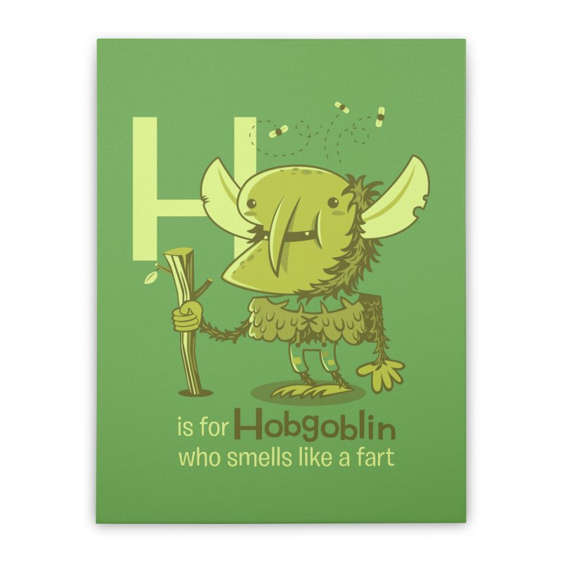 H is for Hobgoblin Home Stretched Canvas by Hazy Dell Press
