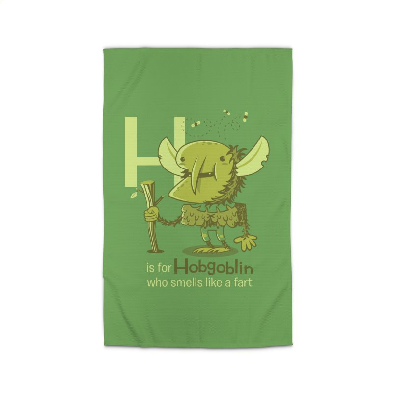 H is for Hobgoblin Home Rug by Hazy Dell Press