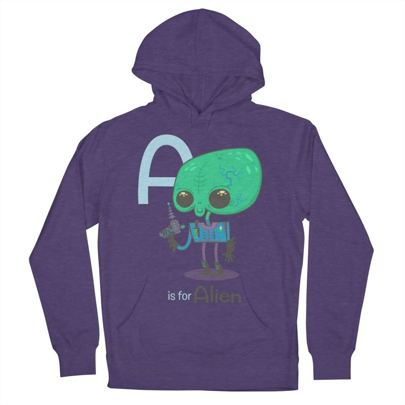 A is for Alien Men's Pullover Hoody by Hazy Dell Press