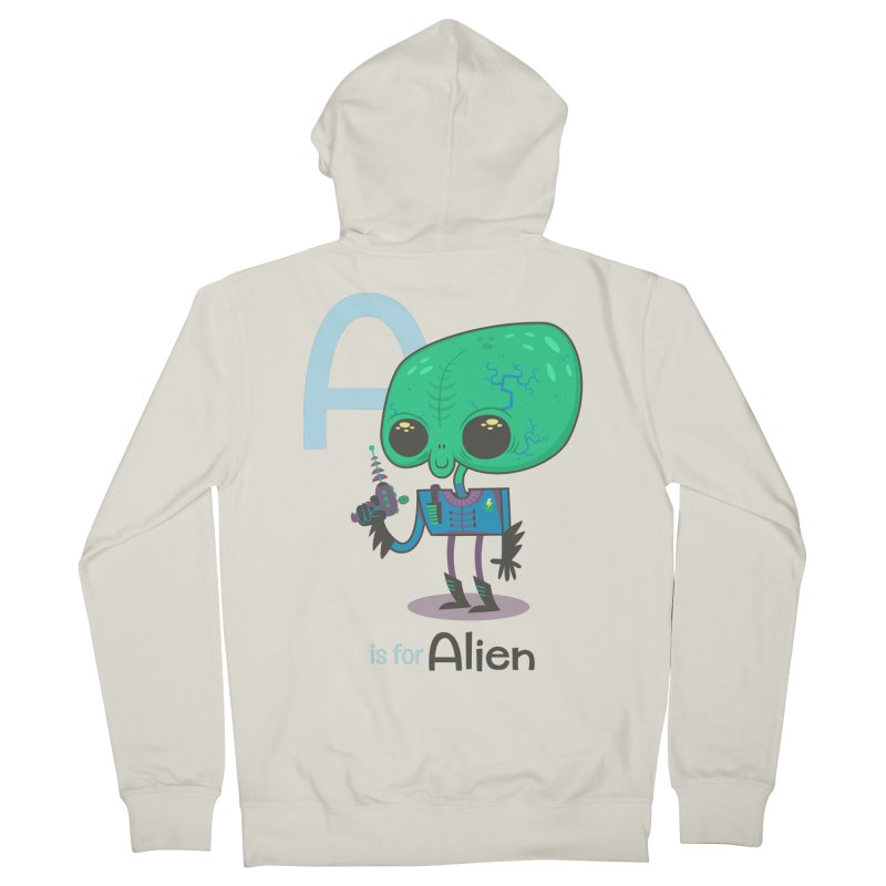 A is for Alien Women's Zip-Up Hoody by Hazy Dell Press