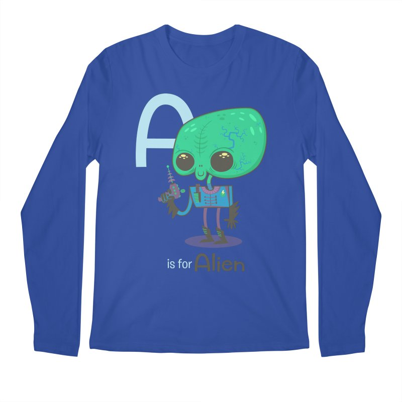 A is for Alien Men's Regular Longsleeve T-Shirt by Hazy Dell Press