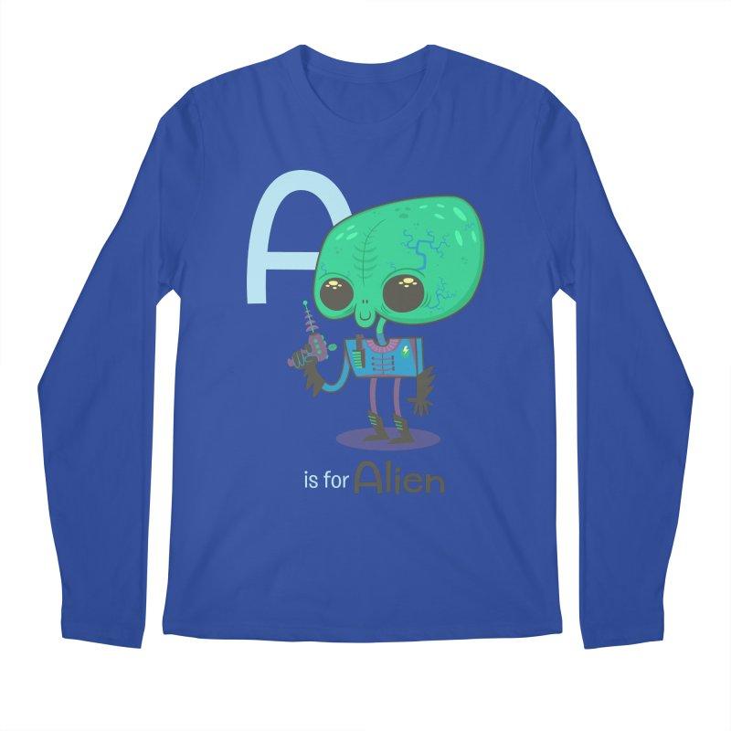 A is for Alien Men's Longsleeve T-Shirt by Hazy Dell Press