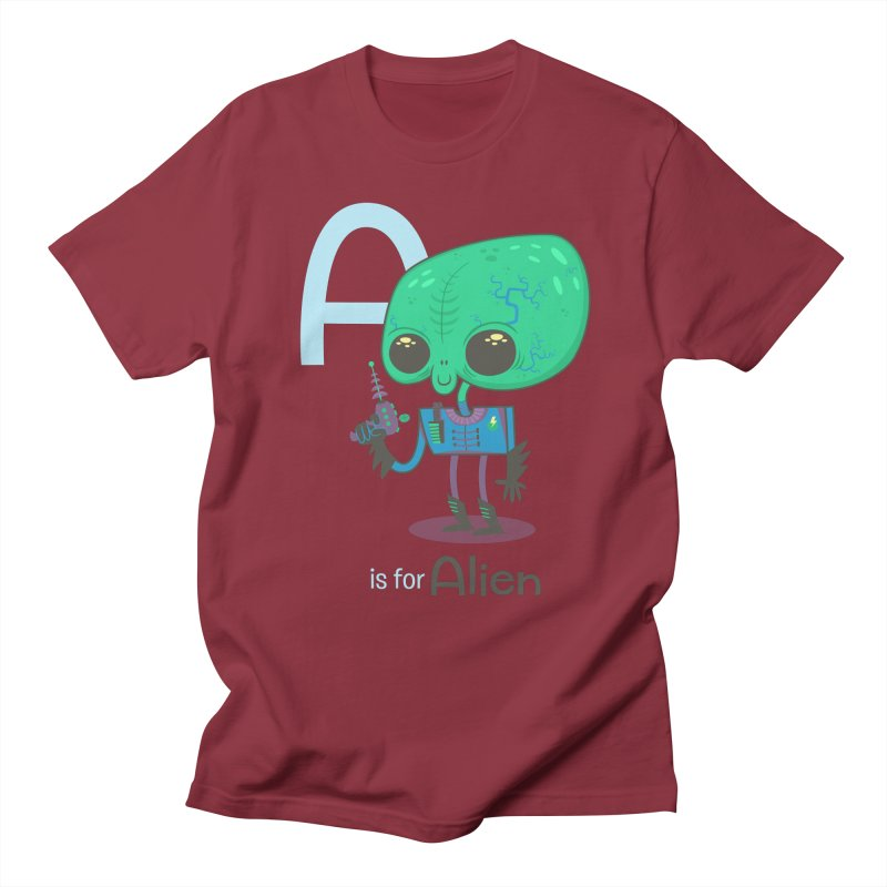 A is for Alien Men's Regular T-Shirt by Hazy Dell Press