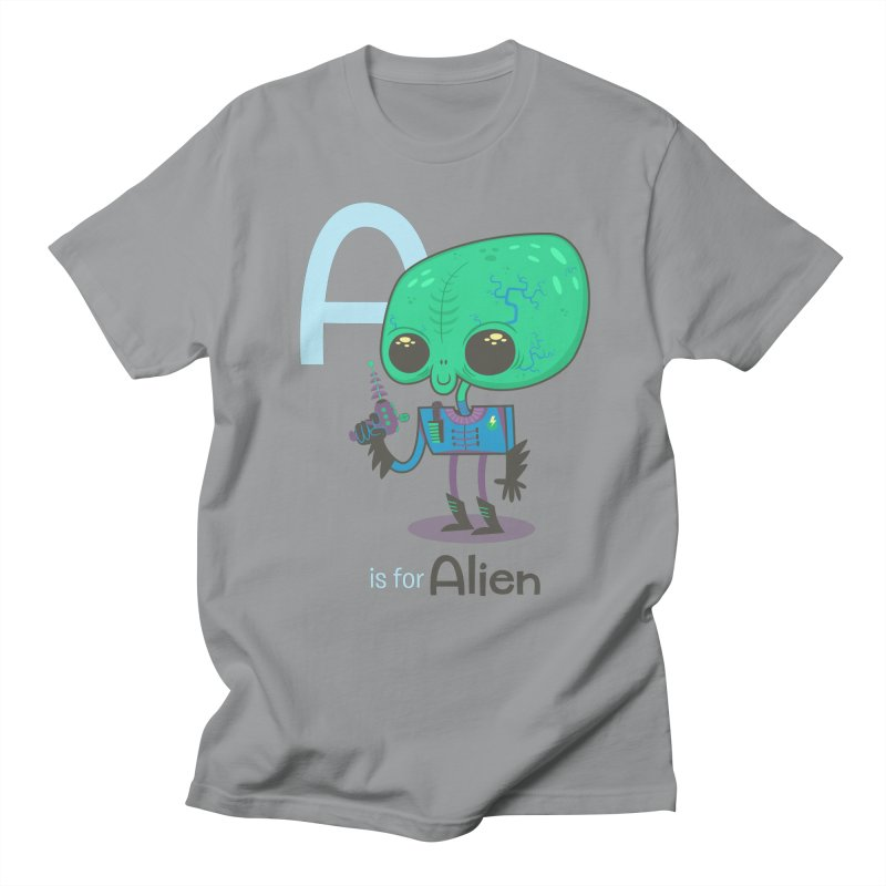 A is for Alien Women's Unisex T-Shirt by Hazy Dell Press